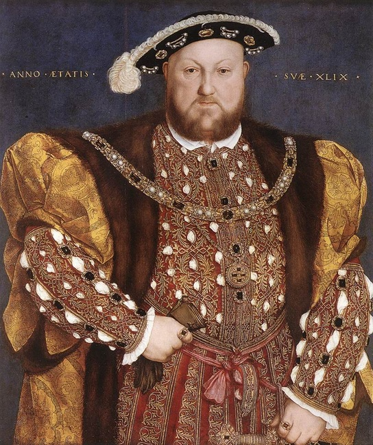 Portrait of Henry VIII. Hans Holbein the Younger (1497/1498–1543) [Public domain], via Wikimedia Commons