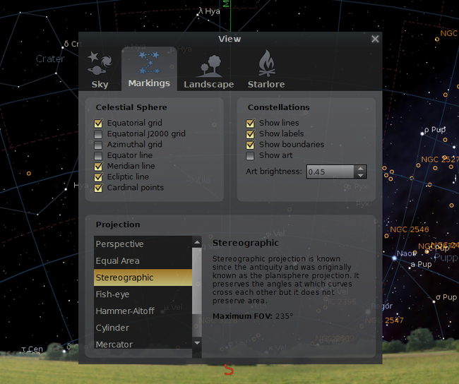 Distant Nature: Astronomy Exercises | Using Stellarium with Distant