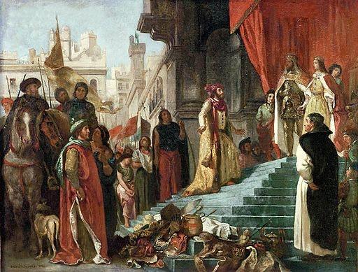 """The Return of Christopher Columbus"" by Eugene Delacroix [Public domain], via Wikimedia Commons"