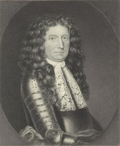 Portrait of Sir Edmund Andros. From the New York Public Library Digital Collection, Public Domain, via Wikimedia Commons