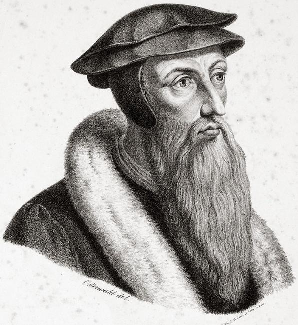 John Calvin, by Georg Osterwald (1803–1884) [Public domain], via Wikimedia Commons