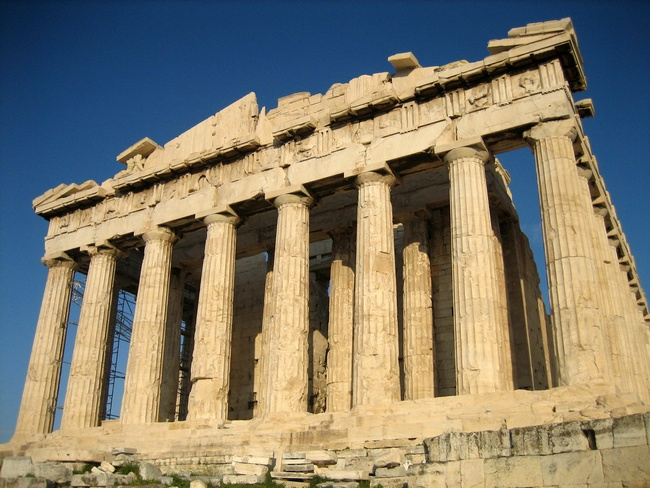 The Parthenon of ancient Greece. By User:Mountain - Own work, Public Domain, via Wikimedia commons