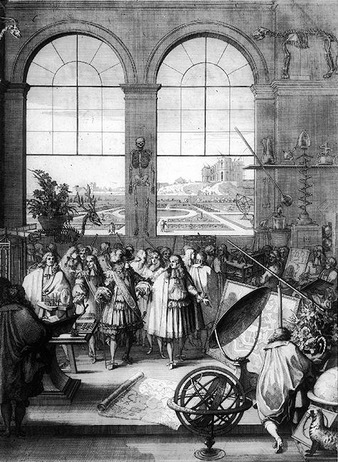 Louis XIV visiting the Académie des sciences in 1671. Public Domain, via Wikimedia Commons