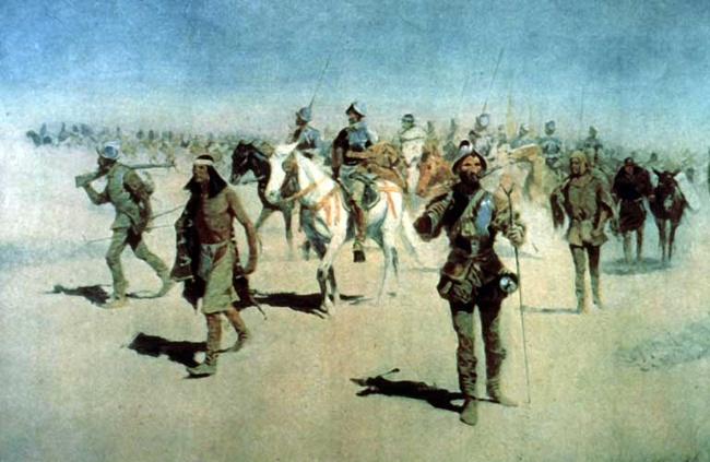 """Coronado sets out to the North."" Frederic Remington [Public domain], via Wikimedia Commons"