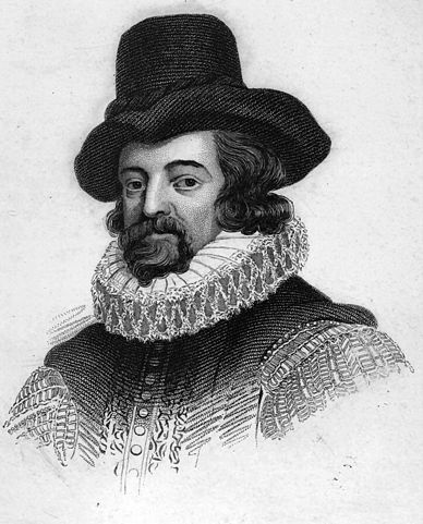 Portrait of Francis Bacon by Drebbel, Public Domain, via Wikimedia Commons
