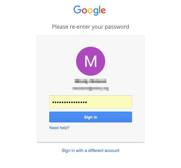 Log into your Google Classroom account.