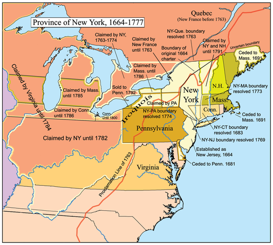 Map of the Province of New York by Kmusser, CC BY-SA 2.5, via Wikimedia Commons
