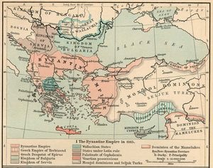 Roman Empire about 395, with labeled provinces. By William R. Shepherd, Historical Atlas (1911) via the Perry-Castañeda Library of the University of Texas/Wikimedia Commons
