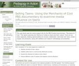 Selling Teens: Using the Merchants of Cool PBS documentary to examine media influence on teens