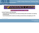 U1M2 Using your Historical Thinking Skills