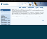 De Gaulle's Republic 1958 - 1969