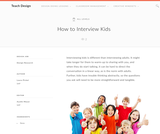 Teach Design: How to Interview Kids
