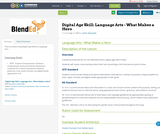 Digital Age Skill: Language Arts - What Makes a Hero