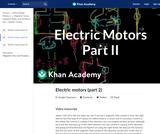 Electric motors (part 2)