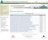 OakRidge National Laboratory - Employment