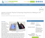 Physical Computing Using Arduinos: Making an LED Blink and Fade