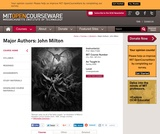 Major Authors: John Milton, Spring 2008