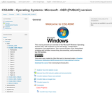 CS140M - Operating Systems: Microsoft - OER (PUBLIC) version