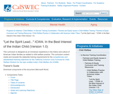 """Let the Spirit Lead..."" ICWA: In the Best Interest of the Indian Child (Version 1.0)"