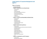 Legal Aspects of Corporate Management and Finance