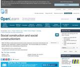 Social Construction and Social Constructionism