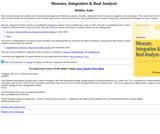 Measure, Integration & Real Analysis