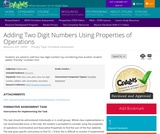 Adding Two Digit Numbers Using Properties of Operations