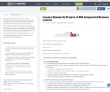 Career Research Project: A MS Integrated Science Lesson