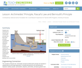 Archimedes' Principle, Pascal's Law and Bernoulli's Principle