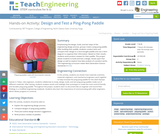 Design and Test a Ping-Pong Paddle