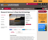 Research Seminar in Deep Sea Archaeology, Spring 2002