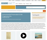 Environmental Preservation in the Progressive Era