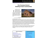 The Freeman School: Building Prairie Communities