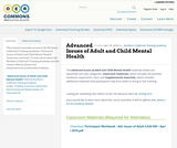 Advanced Issues of Adult and Child Mental Health
