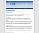 Environmental Impact Assessment (EIA) Instructional Guide