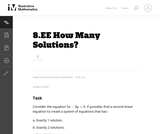 How Many Solutions?