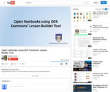Open Textbooks using OER Commons Lesson Builder Tool
