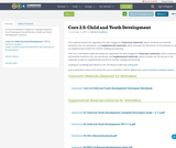 Core 2.5: Child and Youth Development