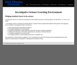 ISLE: Investigative Science Learning Environment