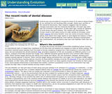 The Recent Roots of Dental Disease