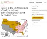 Lesson 3: The 1828 Campaign of Andrew Jackson: Territorial Expansion and the Shift of Power
