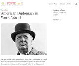 American Diplomacy in World War II