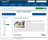 Grade 1 Module 4:  Place Value, Comparison, Addition and Subtraction to 40
