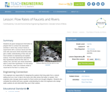 Flow Rates of Faucets and Rivers