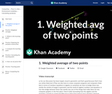 1. Weighted average of two points