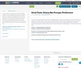 Good Taste:  Honey Bee Forager Preference