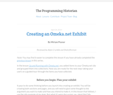 The Programming Historian 2: Creating an Omeka.net Exhibit