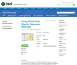 Siting Wind Farm Sites in Colorado With GIS