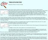 Guelph Physics Tutorials: Trigonometry