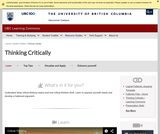 Learning Toolkit: Critical Thinking